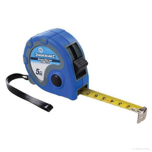 Silverline 868770 Measure Mate Metric & Imperial Tape Measure 5m / 16ft x 19mm